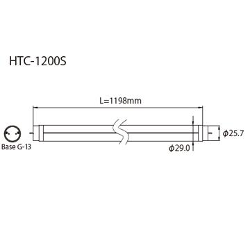 HTC-1200S外形図