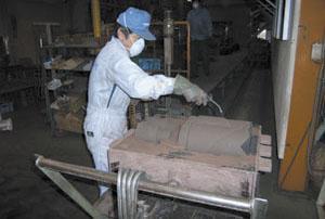鋳物工場で採用(低圧で使用)