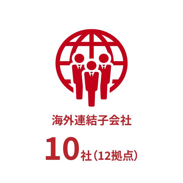 海外グループ会社10社(12拠点)